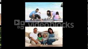 Montage of families spending time outside