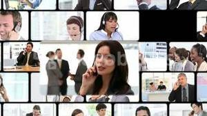 Montage of business calls