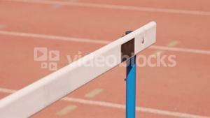 View of hurdle for race