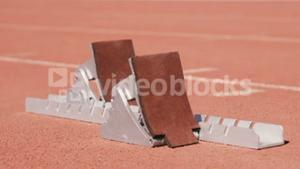 Video of a starting block