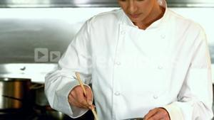 Chef preparing a meal
