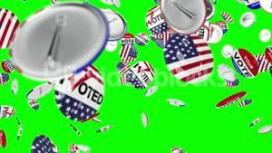 Voting pin dropping on the floor