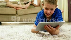 Kid with a tablet computer