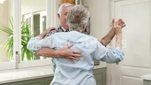 Old couple dancing a waltz