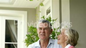 Mature couple posing together