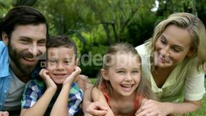 Cute family enjoying together