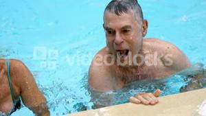 Couple getting their head above water