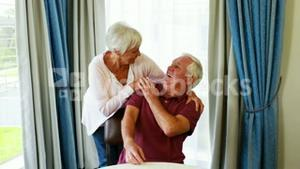 Retired people meeting together