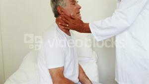 Doctor visiting patient