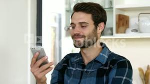 Man is talking on his phone