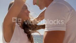 Couple having affection together