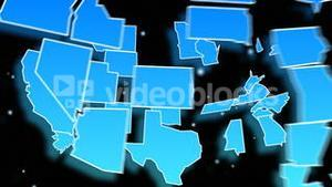 Animated Map of the USA