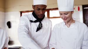 Chefs preparing meal