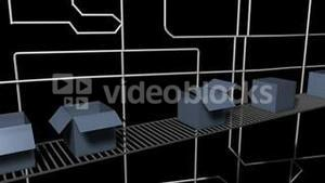 Animation of Factory packaging