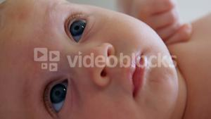 Close-up of baby face