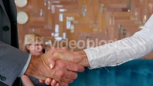 Business people exchanging business card