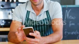 Young man using mobile