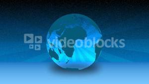 Blue Globe in Motion