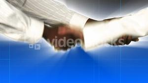 Close up of businessman and businesswoman shaking hands