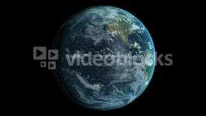 high quality animation of earth spinning