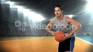 Basketball player passing the ball