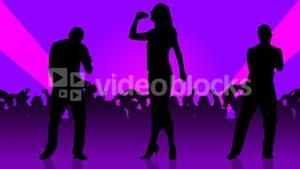 Animation of people silhouettes singing