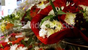 Variety of flower bouquet in flower section