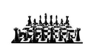 Animation of a chess set turning. Concept of rivalry and competition in business