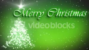 Merry Christmas animation with decorated tree and stars