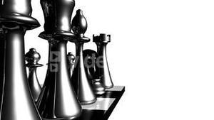 Animation of chess set in motion