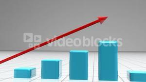 Animated graphic showing growth
