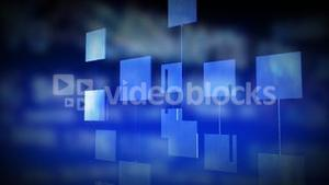 Abstract digital panels against blue background. Concept of technology