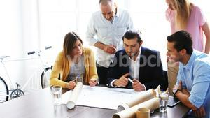 Architectures discussing over blueprint