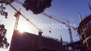 View of building construction site