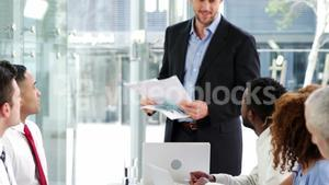 Businesspeople in meeting at conference room