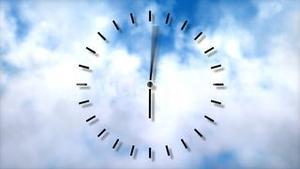Clock in motion. Passing time concept