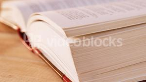 Close-up of a open book