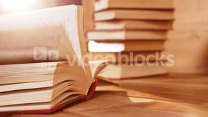 Close-up of a book pages flipping