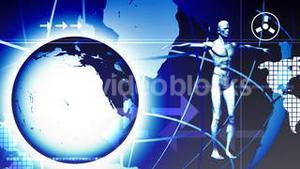 3D human body with the planet