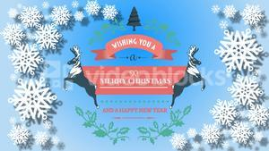 Illustration of christmas greeting and new year message