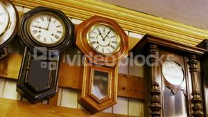 Clocks for repair hanging on the wall