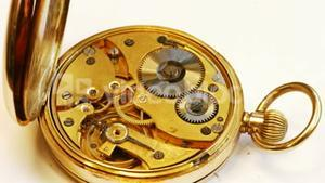 Pocket watch machine with gears