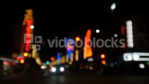 Blurred view of city street