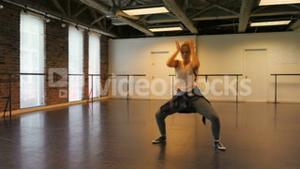 Woman performing hip hop dance