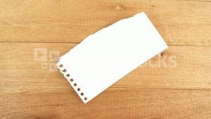 Close-up of blank paper