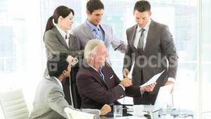 Successful businessman in a business meeting