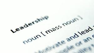 Leadership text on paper