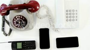 Old and modern technology concept