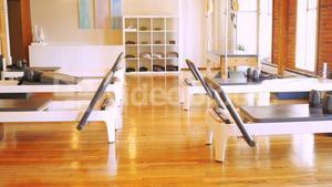 Gym equipments in fitness studio