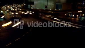 Time lapse of cars moving on street